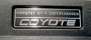 Ford Powered By A Supercharged Coyote 5 0l Mustang F150 Hot Rod Emblem Plaque