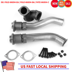 Bellowed Up Pipe Kit For 1999 5 2003 7 3l Ford Powerstroke Turbo Diesel