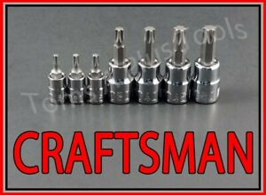 Craftsman Hand Tools 7pc 1 4 3 8 Dr Torx Star Bit Ratchet Wrench Socket Set