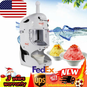 Home Snow Cone Machine Electric Maker Shaved Ice Crusher For Summer Commercial