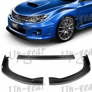 For 2011 2014 Subaru Wrx Sti Real Carbon Fiber Cs2 Style Front Bumper Body Lip