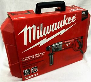 Milwaukee 5262 21 Sds plus Corded Rotary Hammer Drill Kit 045242244539