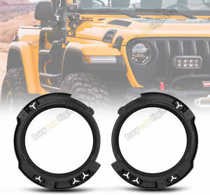2x Headlight Mounting Bracket Ring Bucket Base For Jeep Wrangler Jk 2007 2018