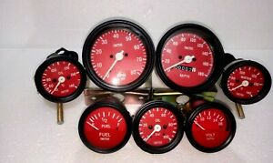 Smiths Kit 52mm Temp Oil Temp Oil Bar fuel volt 85 Mm Speedo Tacho Red Me
