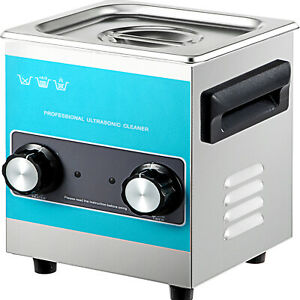Vevor Knob Ultrasonic Cleaner Ultrasonic Cleaning Machine 2l 304 Stainless Steel