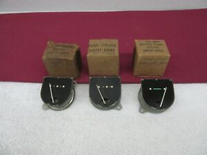 Nos 1946 1947 Ford Temperature Gauge Fuel Gauge Oil Gauge Dash Units Dp2