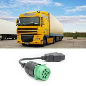 1 Conversion Cable Obd2 Obdii 16 Pin To Heavy Truck 9 Pin Universal Durable