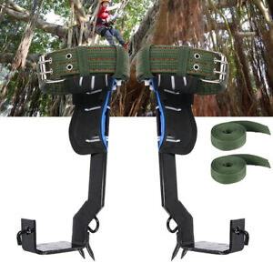 2pcs Tree Climbing Spike Set Lanyard Rope Rescue Belt For Travel Climber Best