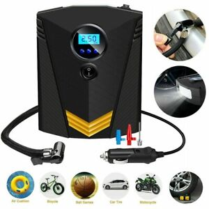 Auto Stop Electric Car Tire Inflator Pump Portable Tire Air Compressor 12v Dc