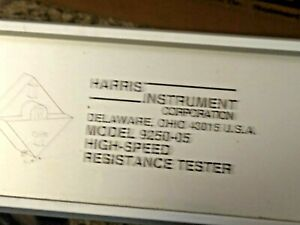 Harris 9250 05 High Speed Resistance Tester 8ch 5 Ranges 1 Micro Ohm Resolution