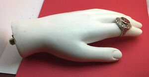 Left Female Mannequin Hand Only Vintage White 7 Inches