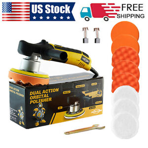 6 Dual Action Da Car Polisher Buffer Sander Polishing Machine Buffing Head Pads