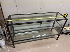 Large Metal Glass Display Case Cabinet 50 x 29 x16