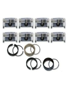 1971 1979 Fits Ford Car 400 6 6l Ohv V8 Dish Top Pistons Moly Rings