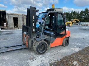 2014 Toyota 8fd40 2529 8 Hrs 4 Ton Solid Tire Forklift Lpg Lift Truck