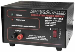 Pyramid Ps12k ps 12kx 10 Amp 13 8v Constant Regulated Ac dc Power Supply