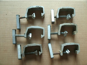 6 Qty Truck Cap Topper Camper Shell Mounting Clamps Heavy Duty Aluminum Clamps
