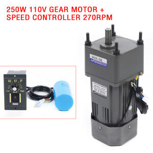 Gear Motor Electric Motor Variable Speed Controller Reducer 1 5 270rpm 110v 250w