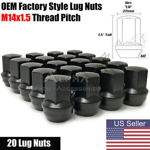 2015 2021 Ford Mustang Black Oem Factory Style Lug Nuts 14x1 5 For Gt Ecoboost