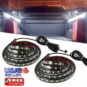 Smd 5050 60led Waterproof Light Strip Pickup Truck Bed Cargo Lighting Lamp 2pcs