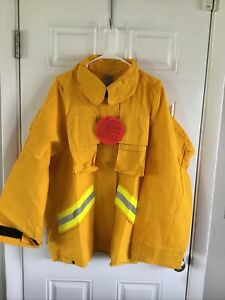 Firefighter Wildland brush Jacket With Reflective Stripes Size 2xl Barrier Wear