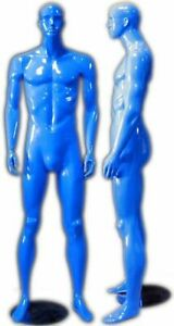 Colorful Glossy Blue Abstract Male Mannequin