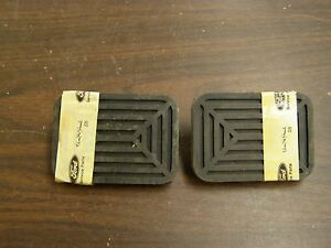 Nos Oem Ford 1949 1950 1951 Clutch Brake Pedal Pads Customline Crestline Sedan