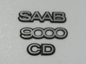 Saab 9000 Cd Turbo Emblems 3 Pieces