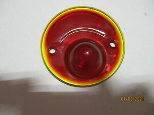 Vintage Stop Light Red Glass Lens Truck Car Taillight Brake Rat Hot Rod Lamp