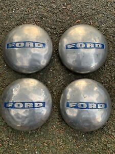 4x Old 1948 52 Ford F 2 Truck 3 4 Ton Stainless Steel Dog Dish Hubcap Fomoco Set