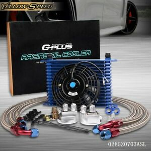 Universal 15 Row Engine An10 Oil Cooler Cooling 7 Fan Filter Relocation Kit