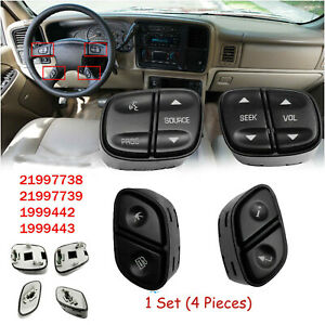 Steering Wheel Radio Volume Control Switch Button Set For Avalanche Escalade Us