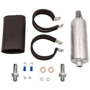 For Walbro Gsl392 Universal Inline In Line Fuel Pump 255lph 400 939 Fittings