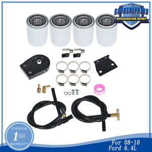 For 08 10 Ford 6 4l Powerstroke Diesel Coolant Filtration Kit 4 Filters