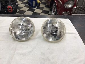Vintage 7 Guide T3 Sealed Beam Headlight Lamps