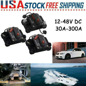 30a 300a Circuit Breaker Fuse Car Waterproof Resettable Manual Switch Dc 12 48v