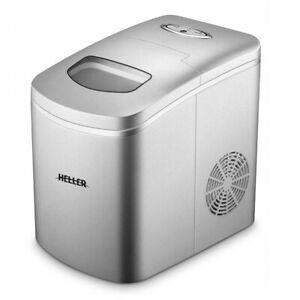 Heller 150w 10kg Electric Ice Cube Maker Portable Machine W led Indicator Silver