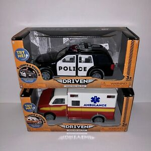 New Driven By Battat Police Suv Ambulance Lights Sounds Moving Parts Tough Rig