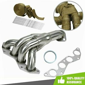 Race Exhaust Manifold Header Stainless Fit 2001 2005 Honda Civic Dx Lx 1 7l D17