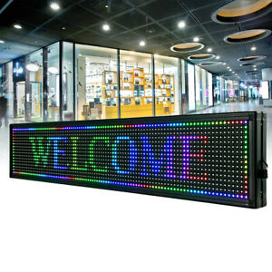 40 X 8 Led Scrolling Red Sign 7 color Programble Outdoor Advertising Board Usb