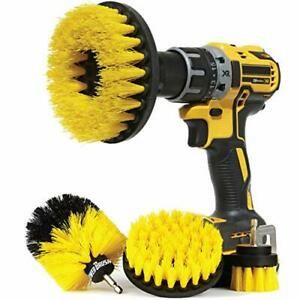 Wheel Brush Kit For Tire And Rim Cleaning 4 Pc Drill Brush Car Detailing Set