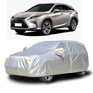 Waterproof Full Car Cover Snow Dust Uv Protection W Zipper For Lexus Rx 300 450