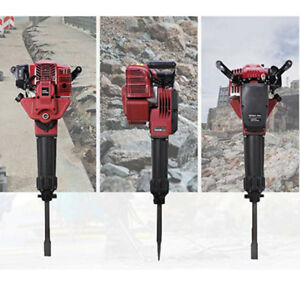 Gas Powered Demolition Concrete Jack Hammer Breaker Punch 52cc Hand Pull Start
