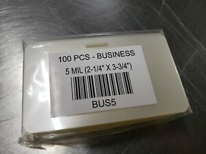 5 Mil Business Laminating Pouches With Slot 2 1 4 X 3 3 4 100pcs
