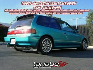 Tanabe Medalion Touring Cat Back Exhaust For 1988 1991 Honda Civic Hatchback