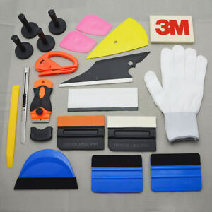 Pro Car Window Vinyl Film Squeegee Magnet Glove Installation Blade Kit Wrap