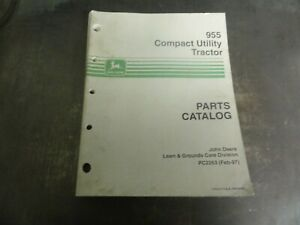 John Deere 955 Compact Utility Tractor Parts Catalog Manual Pc2263
