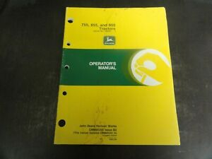 John Deere 755 855 And 955 Tractors Operator s Manual Omm95305 Issue B2
