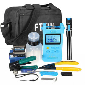 Fiber Optic Ftth Tool Kit Cutter Cleaver Optical Power Meter Visual Device Fc 6s