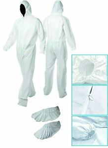 Disposable Coverall Disposable Overall Breathable Suite Universal Size With Zip